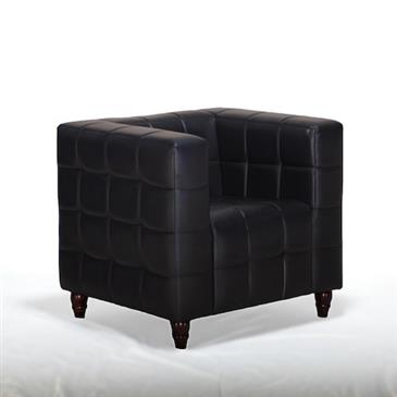 General for store1 Black Leather Armchair