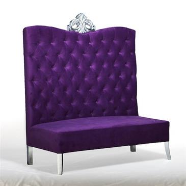 General for store1 Purple Velour Sofa