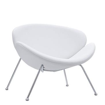 General for store1 White Leather Oyster Chair