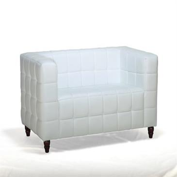 General for store1 White Leather Sofa