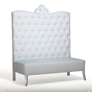 General for store1 White Velour Sofa